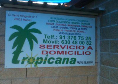 cartel fruteria tropicana