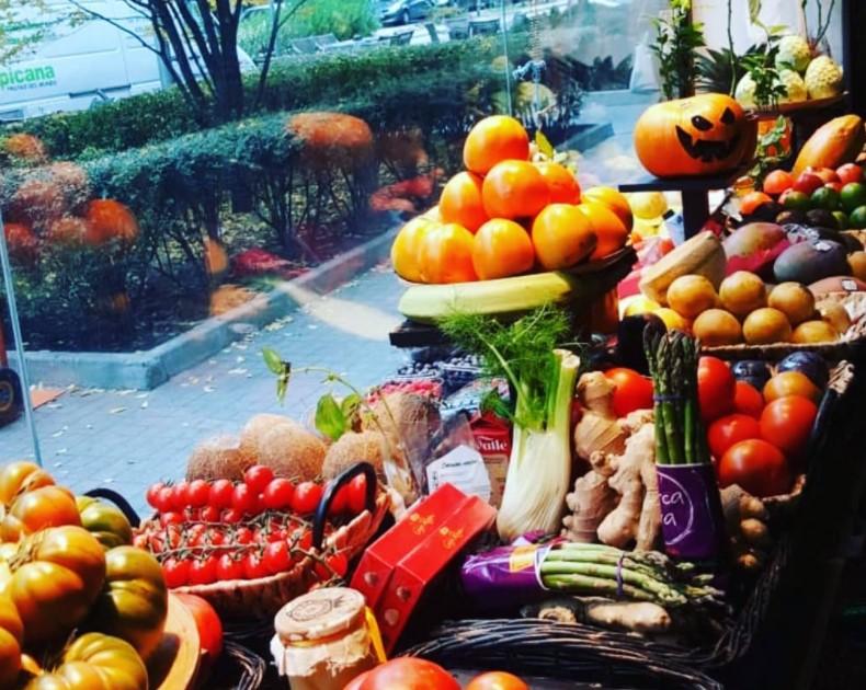 Cestas de frutas en Halloween…